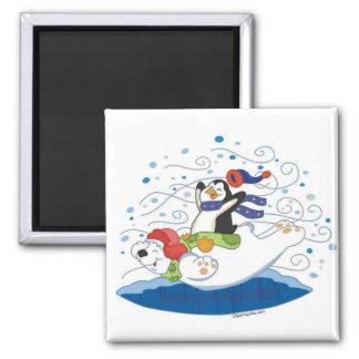 Polar Bear & Penguin Friends Magnet