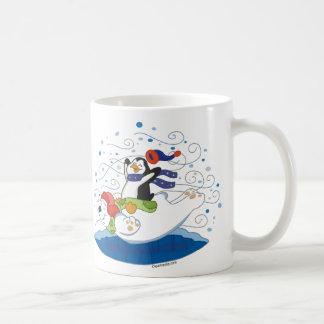 Polar Bear & Penguin Friends Mug