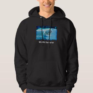Polar Bear & Penguin Wildlife-supporter Art Hoodie