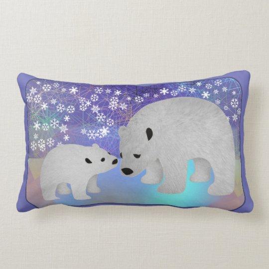 Polar Bear Personalized Lumbar Pillow