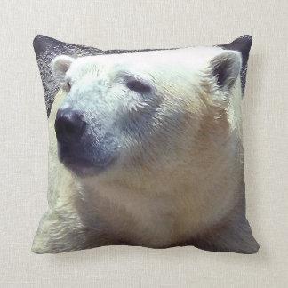 Polar Bear Photo Closeup Nikita Kansas City Zoo Throw Pillow