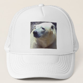Polar Bear Photo Closeup Nikita Kansas City Zoo Trucker Hat