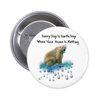 Polar Bear Pinback Button