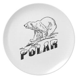 Polar Bear Dinner Plate