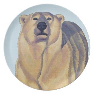 Polar Bear Plate Beautiful Polar Bear Art Gifts