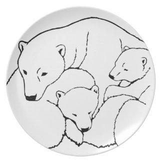 Polar Bear Plate Polar Bear Twins Plates