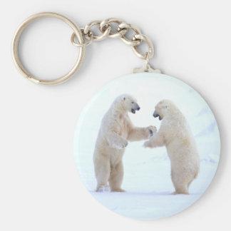 Polar Bear Play Keychain