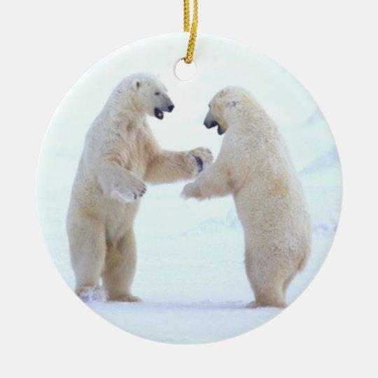 Polar Bear Play Ornament