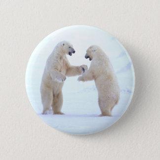 Polar Bear Play Pinback Button