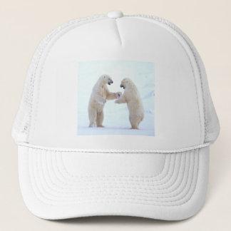 Polar Bear Play Trucker Hat