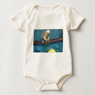 Polar Bear Playing.jpg Baby Bodysuit
