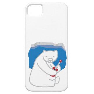 Polar Bear Playing Ukulele iPhone 5 Case