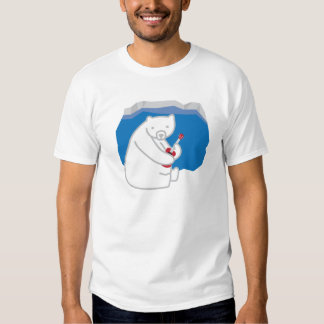 Polar Bear Playing Ukulele Tee Shirt