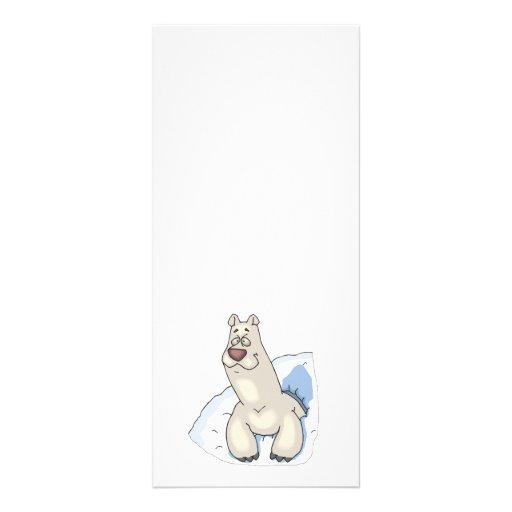 polar bear poking out of snow customized rack card