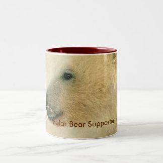 Polar Bear Portrait Collection Two-Tone Coffee Mug