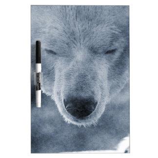Polar Bear Portrait Dry Erase White Board