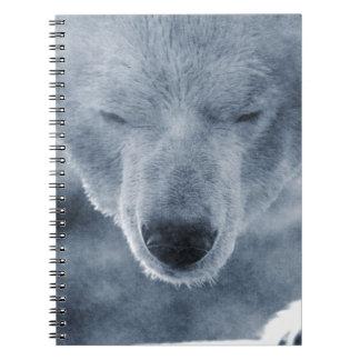 Polar Bear Portrait Spiral Notebooks