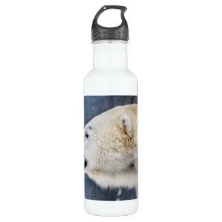 Polar Bear Portrait Stainless Steel Water Bottle