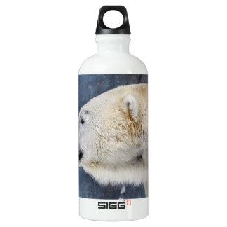 Polar Bear Portrait Water Bottle
