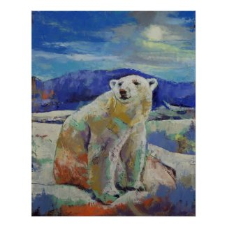 Polar Bear Print print