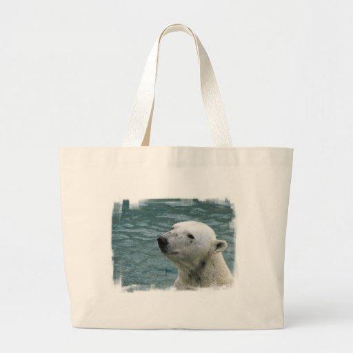 Polar Bear Profile Canvas Bag
