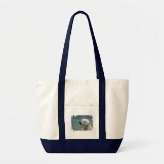 Polar Bear Profile Canvas Tote Bag