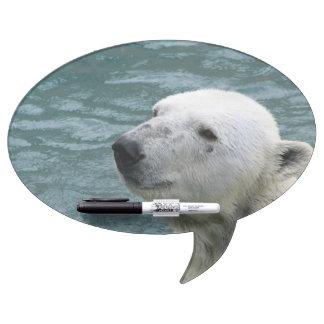 Polar Bear Profile Dry-Erase Board