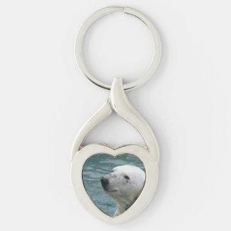 Polar Bear Profile Keychain
