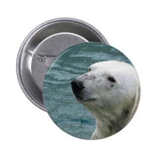Polar Bear Profile Round Button