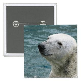 Polar Bear Profile Square Pin