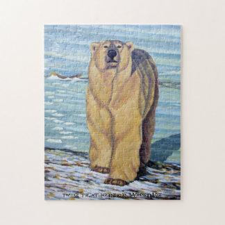 Polar Bear Puzzle Personalized Polar Bear Art Gift