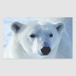 Polar Bear Rectangle Stickers