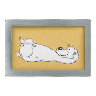 Polar bear rectangular belt buckle