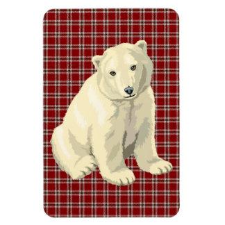 polar bear rectangular photo magnet