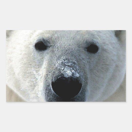 Polar Bear Rectangular Sticker
