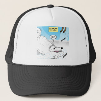 Polar Bear Reindeer Problem Trucker Hat