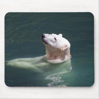 Polar bear resting mouse pad