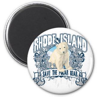 Polar Bear Rhode Island Magnet