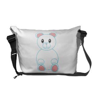 Polar Bear Rickshaw Messenger Bag