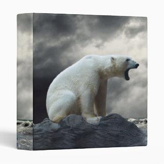 Polar Bear Roaring Binder