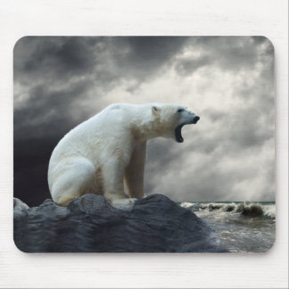 Polar Bear Roaring Mouse Pad