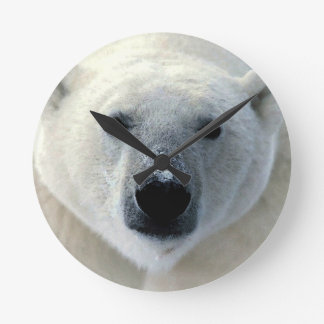 Polar Bear Round Clock