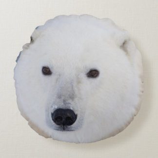 Polar Bear Round Pillow