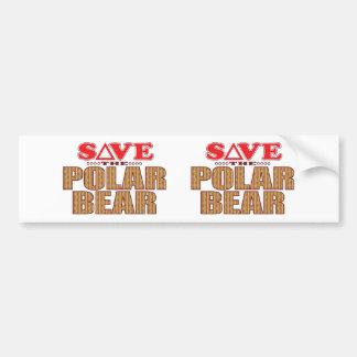 Polar Bear Save Bumper Sticker