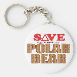 Polar Bear Save Keychain