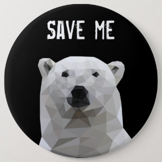 Polar bear Save Me Button