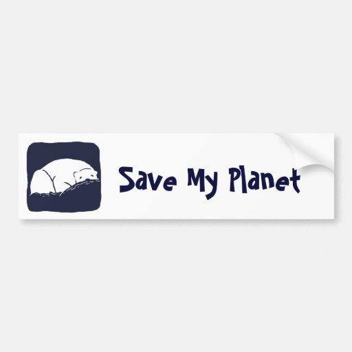 Polar Bear - Save the Earth Bumper Stickers