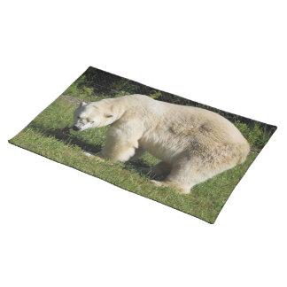 polar bear scowling placemat