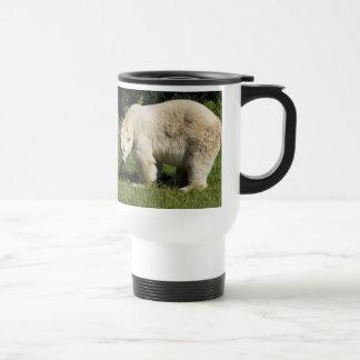polar bear scowling travel mug