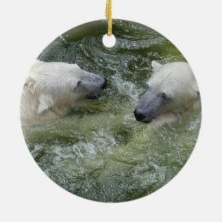 Polar Bear Siblings 2 Photos Christmas Ornaments